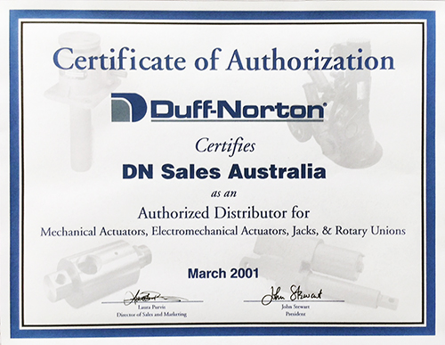 Duff-Norton Product Range